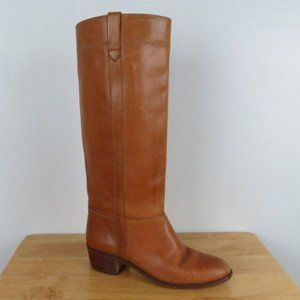 Vintage 70s 80s Tall Tan Riding Boots Size 7.5